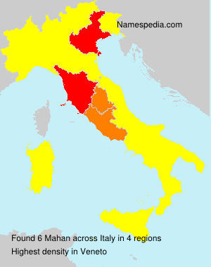 Surname Mahan in Italy