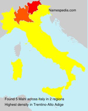 Surname Mahl in Italy