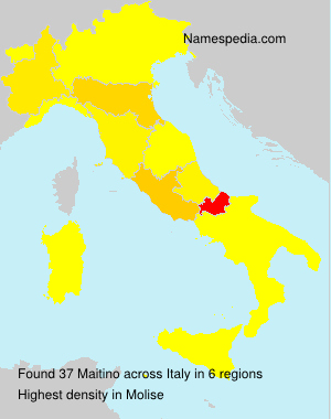 Surname Maitino in Italy