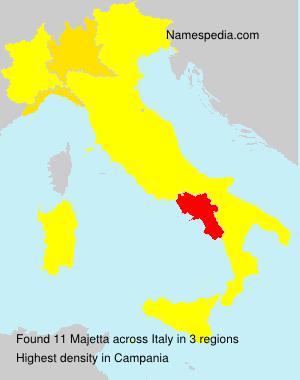 Surname Majetta in Italy