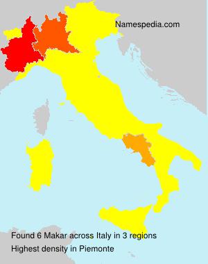 Surname Makar in Italy