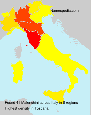 Surname Malenchini in Italy