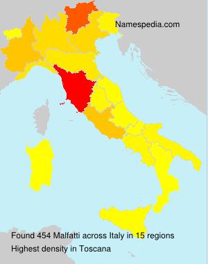 Surname Malfatti in Italy