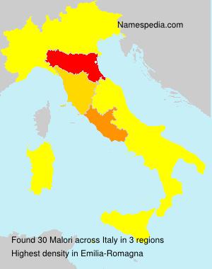Surname Malori in Italy
