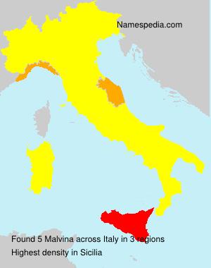 Surname Malvina in Italy