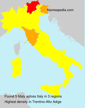 Surname Maly in Italy