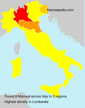 Surname Mamani in Italy