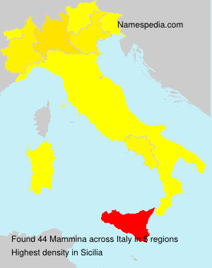 Surname Mammina in Italy