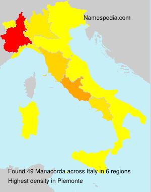 Surname Manacorda in Italy