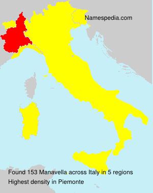 Familiennamen Manavella - Italy