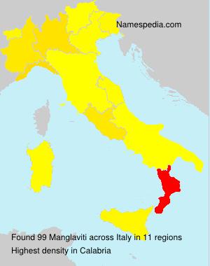 Surname Manglaviti in Italy