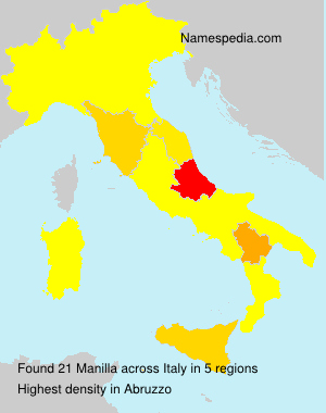Surname Manilla in Italy