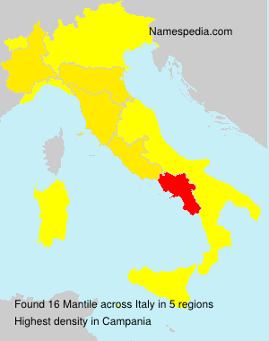Surname Mantile in Italy