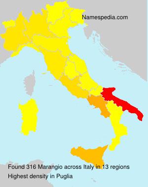 Surname Marangio in Italy