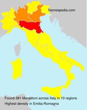Surname Marastoni in Italy