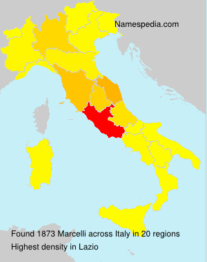 Surname Marcelli in Italy