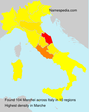 Surname Marchei in Italy