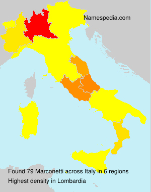 Surname Marconetti in Italy