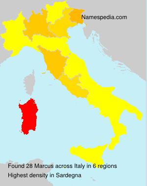 Familiennamen Marcus - Italy