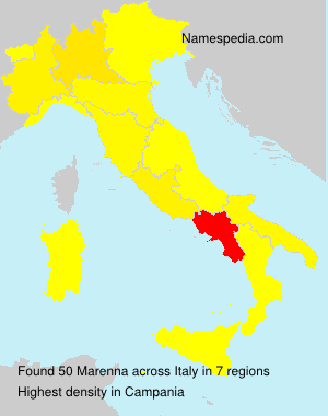 Surname Marenna in Italy