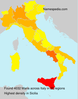 Surname Maria in Italy