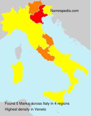 Surname Markaj in Italy