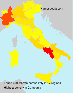 Surname Marmo in Italy
