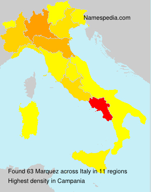 Surname Marquez in Italy