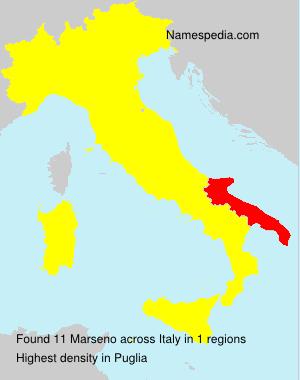 Surname Marseno in Italy