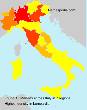 Surname Martens in Italy