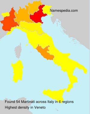 Surname Martinati in Italy