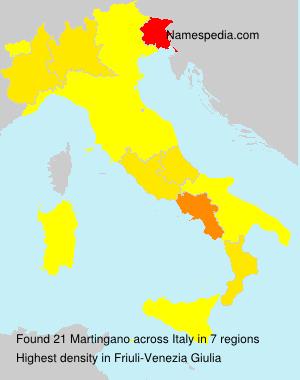 Familiennamen Martingano - Italy