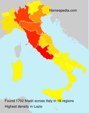 Surname Marzi in Italy