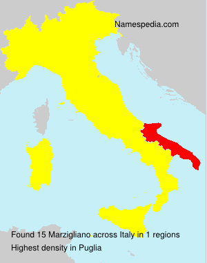 Familiennamen Marzigliano - Italy