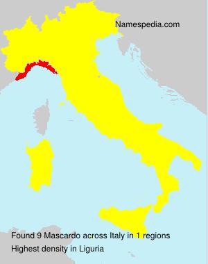 Familiennamen Mascardo - Italy