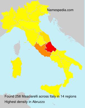 Surname Masciarelli in Italy