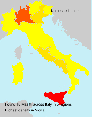 Surname Masitti in Italy