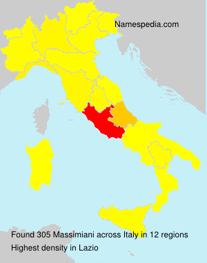 Surname Massimiani in Italy
