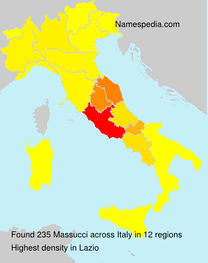 Surname Massucci in Italy