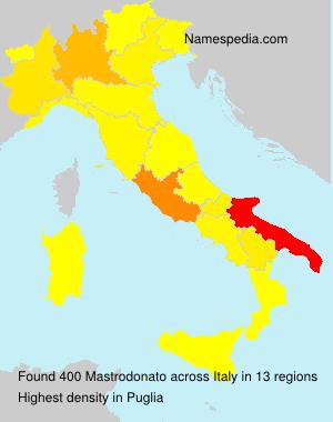 Surname Mastrodonato in Italy