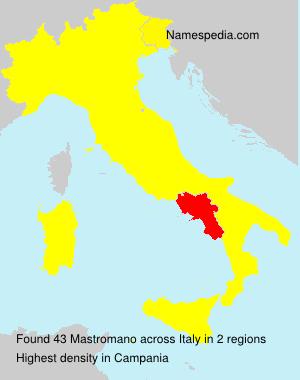 Surname Mastromano in Italy