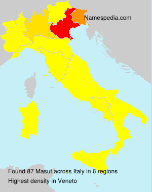 Surname Masut in Italy