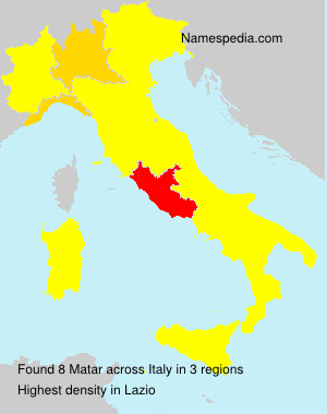 Surname Matar in Italy