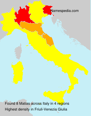 Surname Matias in Italy