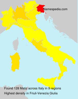 Surname Matiz in Italy