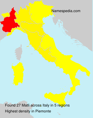 Surname Matli in Italy