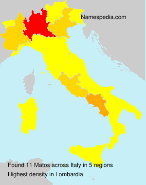 Surname Matos in Italy
