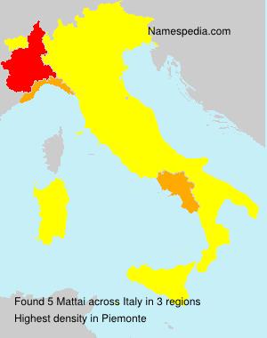 Surname Mattai in Italy