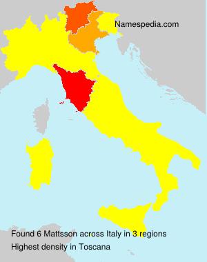 Familiennamen Mattsson - Italy