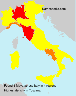 Surname Maya in Italy